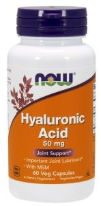 HYALURONIC ACID 50MG + MSM 60 кап.  (NOW)